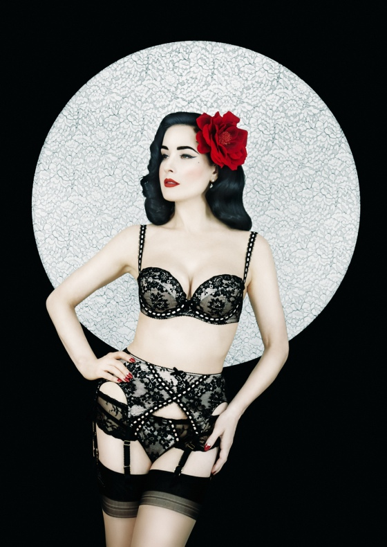 4a623729b262 Dita von Teese launched her lingerie collection into Harrods with its  signature vintage style of corsets