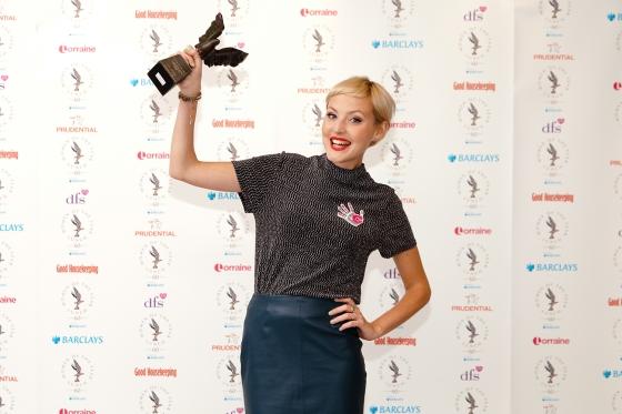 DFS Women of the Year Award winner_Kris Hallenga with award