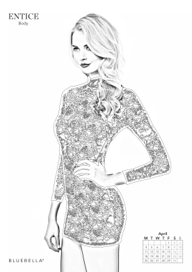 Bluebella launches 2016 adult colouring in calendar